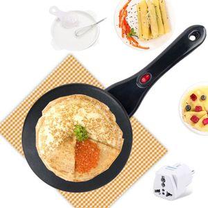 CRÊPIÈRE ÉLECTRIQUE Électrique Crêpière Pizza Pancake Machine AC 220V