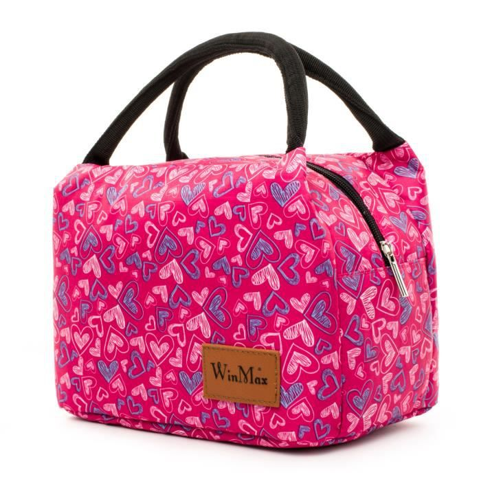 Winmax Sac Repas Isotherme Sac à Déjeuner pour Hommes Femmes Enfants Pique-Nique Lunch Bag Portable 24 x 15,5 x 18 CM