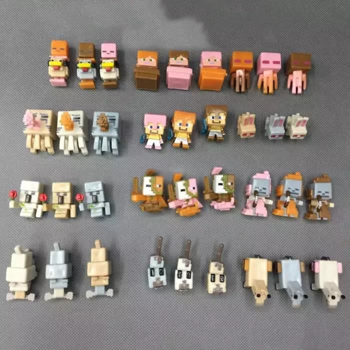 36PCS MINECRAFT figurines - FIGURINE - PERSONNAGE MINIATURE