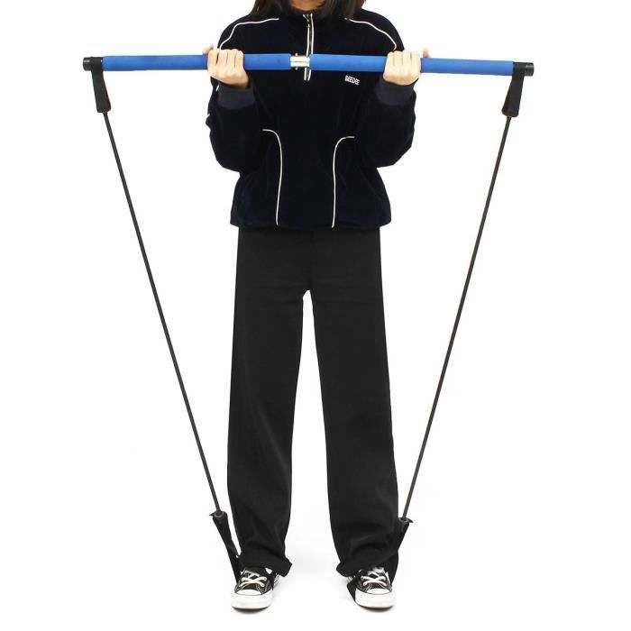 Entraînement léger du corps barre de Pilates bâton de gymnastique Portable élastique 2 boucles de pied fo - HSJSTLDC04394