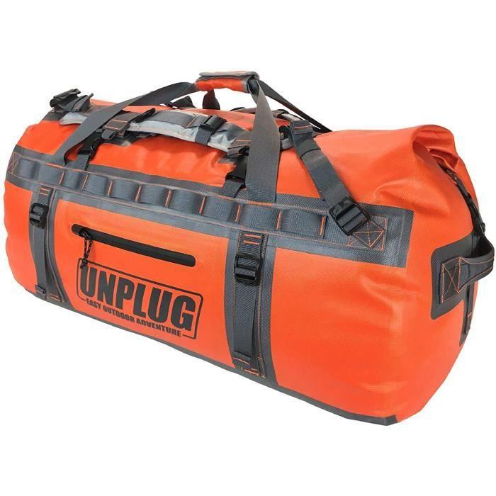 Unplug Sac de Voyage étanche 1680D pour activité Nautique, la Moto, la Chasse, Le Camping, Le Kayak, Le Jet Ski. Permet de Transport