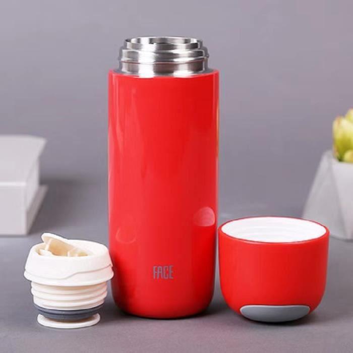 Bouteille d'eau Isolée en Acier Inoxydable 450ML Anti-Condensation,Bouteille Isotherme Réutilisable sans BPA Conserver 12H - rouge