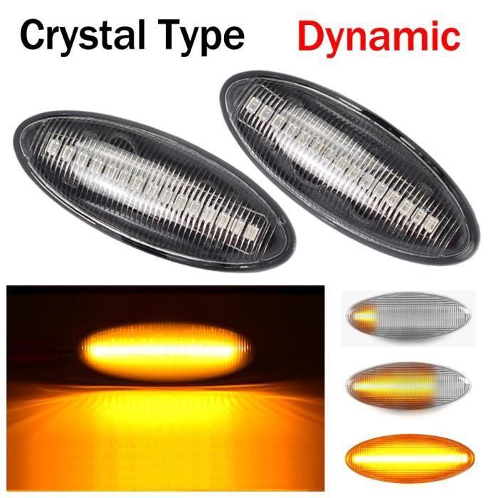 2 pièces Dynamique LED Feu De Position Latéral Clignotant Indicateur Répéteur Lumière Pour Toyota Yaris COROLLA Auris [7A686B0]