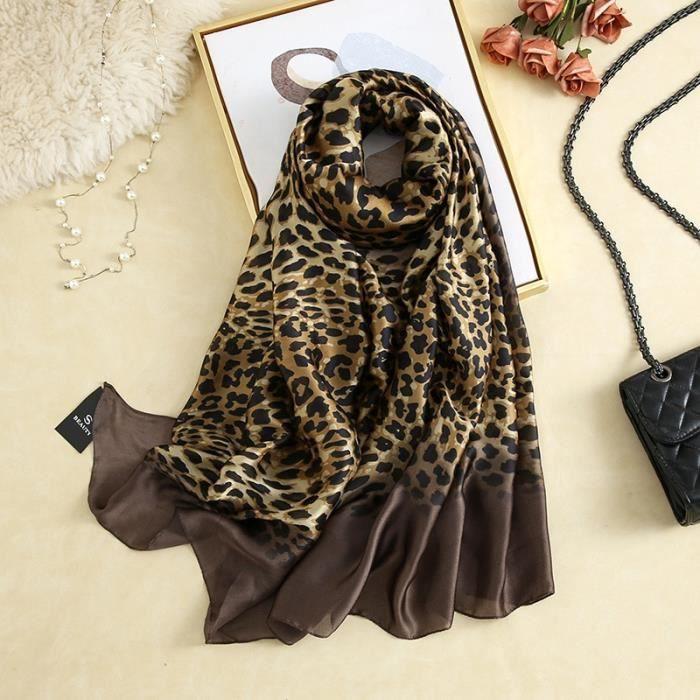 foulard plage,Van Gogh – Foulard en soie pour Femme, écharpe de marque de luxe, imprimé Floral abricot, Hijab, - Type XC05-L180cm