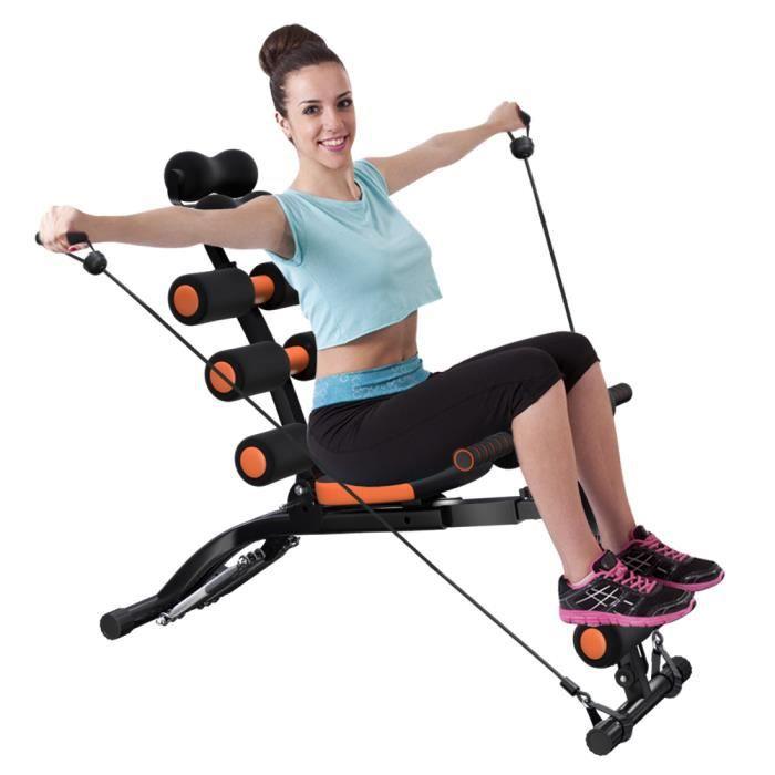 Appareils Abdominaux- YEHOO- Appareil de musculation pour abdominaux, Fitness, Sport, Chaise d'exercice réglable- Orange et Noir
