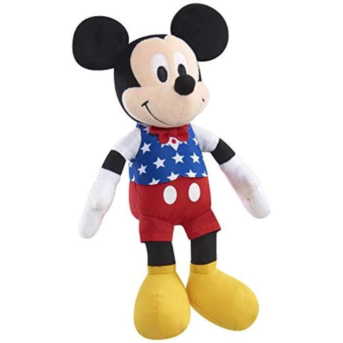 Peluche DISNEY W5Z4T haricot patriotique, Mickey Mouse, MultiCol