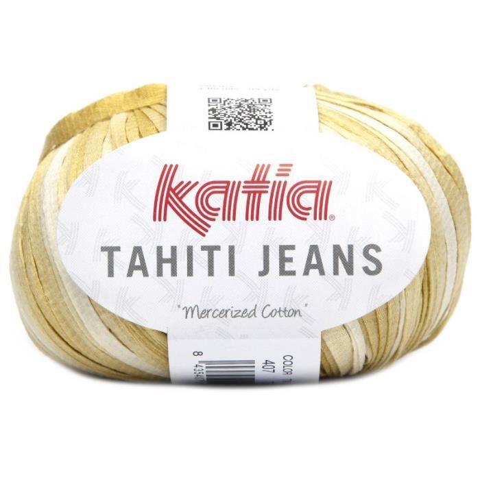 Coton TAHITI JEANS - Katia 407 Jaune