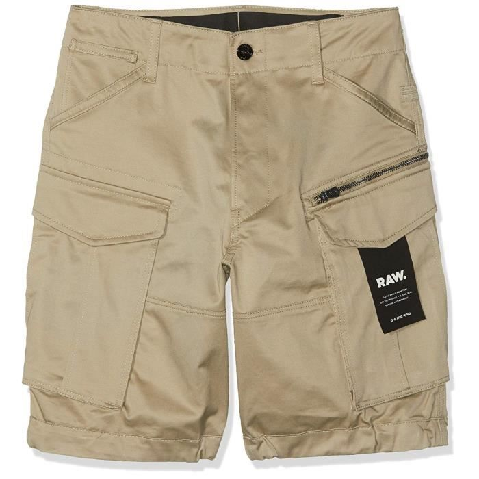 G-STAR RAW Rovic Zip Relaxed 12-Length Shorts, Noir (Dune 239), W28 (Taille Fabricant: 28W) Homme - D08566-5126-181