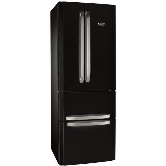 HOTPOINT E4DBC1 - Réfrigérateur multi-portes - 399L (292+107) - Froid ventilé No frost - L 70cm x H 195.5cm - Noir