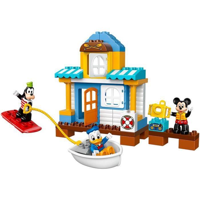 LEGO Duplo Disney Junior Mickey & Friends Beach House, enfants d'âge préscolaire, pré-maternelle Grand Building Block JB0B9