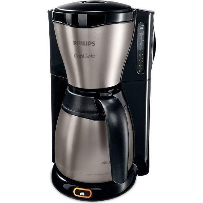 Philips HD7548-20, Autonome, Machine à café filtre, 1,2 L, Café moulu, 1000 W, Noir, Métallique