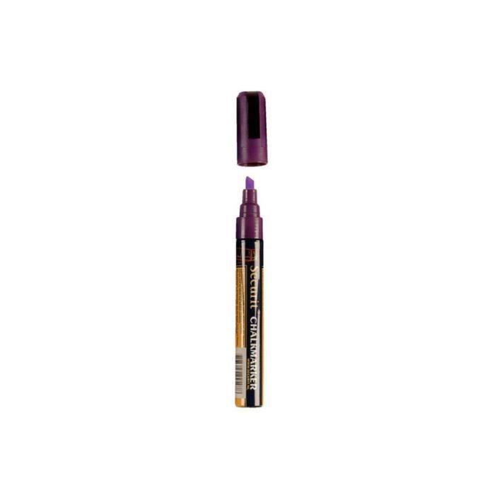Marqueur pour ardoise effaçable 6 mm SECURIT - Violet