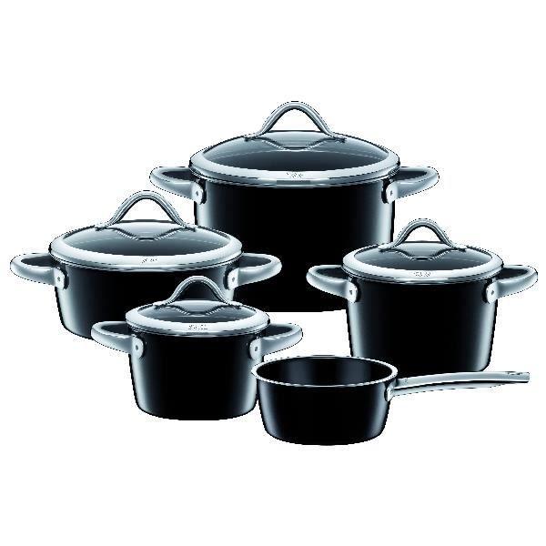 Silit Set de casseroles Vitaliano noir 5 pièces