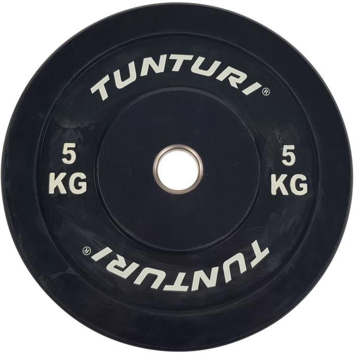 TUNTURI Disque de Musculation 5kg Noir