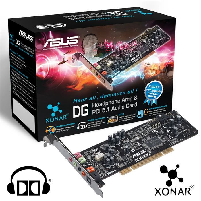 asus xonar dg 5 1 carte son pci prix pas cher les soldes sur cdiscount cdiscount. Black Bedroom Furniture Sets. Home Design Ideas