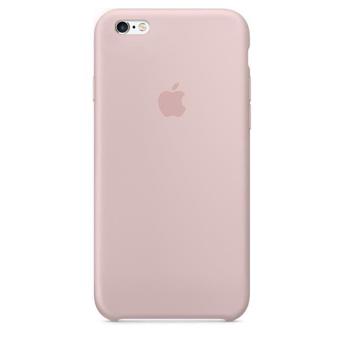 apple coque en silicone pour iphone 6 6s rose des