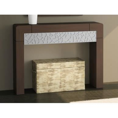 Console meuble dentr e vittro 120x90 cm wengu patin et for Meuble 90 cm largeur