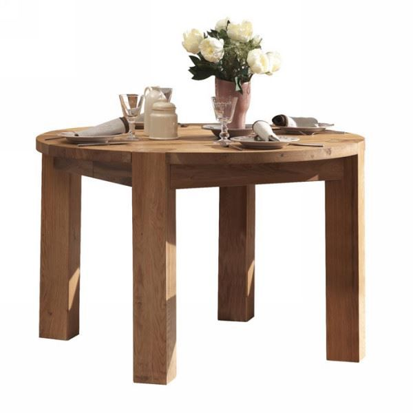 Table ronde en ch ne massif huil 120cm allon achat for Table ronde en chene