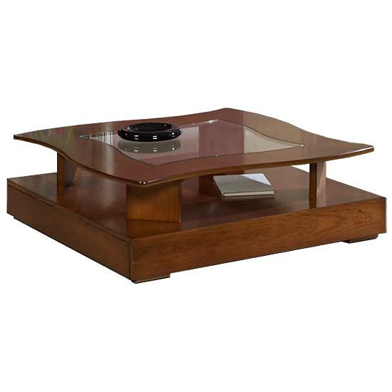 Table Basse Margaux Clair Merisier Massif En Vague Achat Vente Table Basse Table Basse