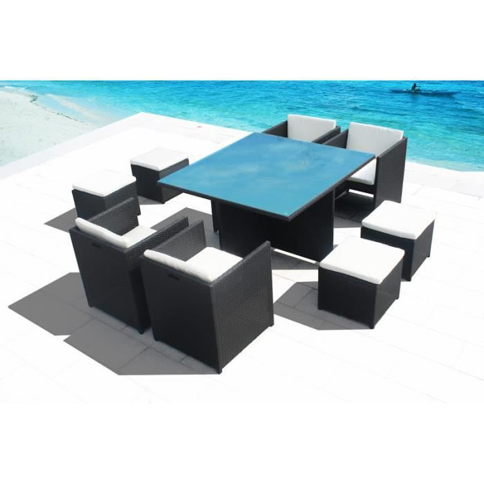 superbe salon de jardin miami en resine encastrable luxe. Black Bedroom Furniture Sets. Home Design Ideas