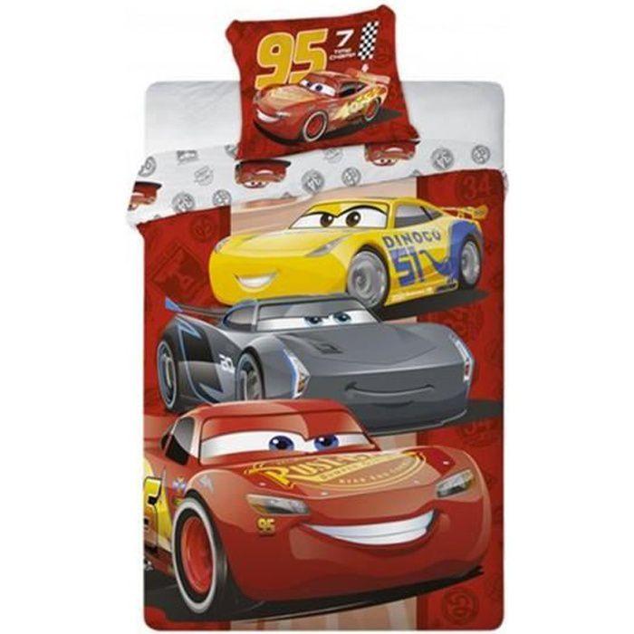 HOUSSE DE COUETTE ET TAIES Cars Disney Parure de Lit Enfant Housse de Couette