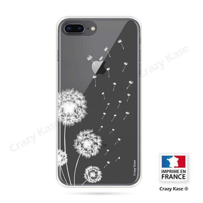 coque iphone 8 plus souple fleurs de pissenlit c