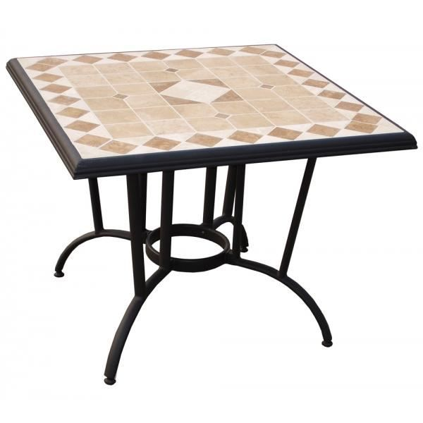 Table carr e rhodos d cor mosa que achat vente table de jardin table carr e rhodos mosa que for Achat table de jardin mosaique