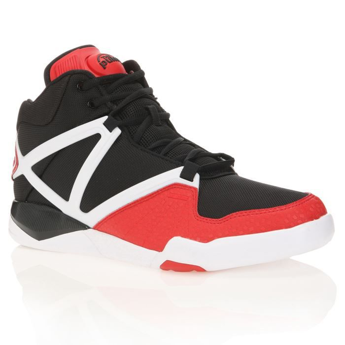 REEBOK Baskets PUMP OMNI LITE Homme Noir rouge Blanc