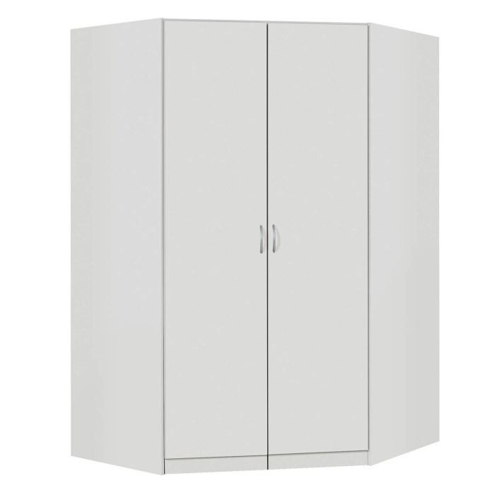 armoire d 39 angle noa blanc achat vente armoire de chambre armoire d 39 angle noa blanc cdiscount. Black Bedroom Furniture Sets. Home Design Ideas