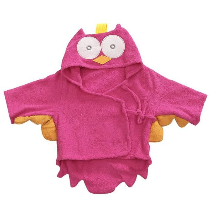 peignoir b b serviette de bain motif peignoir rose rouge achat vente sortie de bain. Black Bedroom Furniture Sets. Home Design Ideas