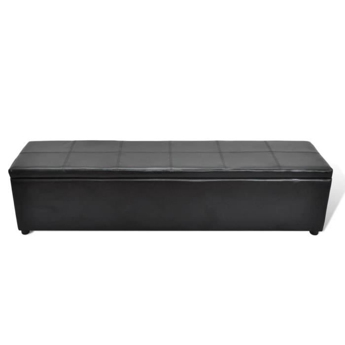 banc banquette coffre de rangement noir achat vente. Black Bedroom Furniture Sets. Home Design Ideas