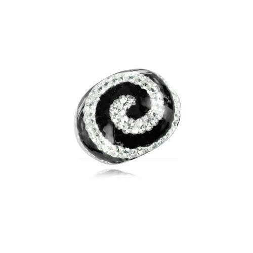 Bague Crystal Chic cabochon Spirale