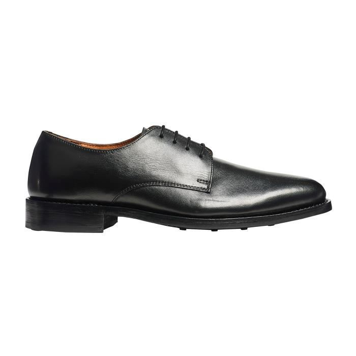 Mens Truman Derby Leather Shoe In Goodyear Welted Construction W190Y Taille-40 1-2 JjzSgE4