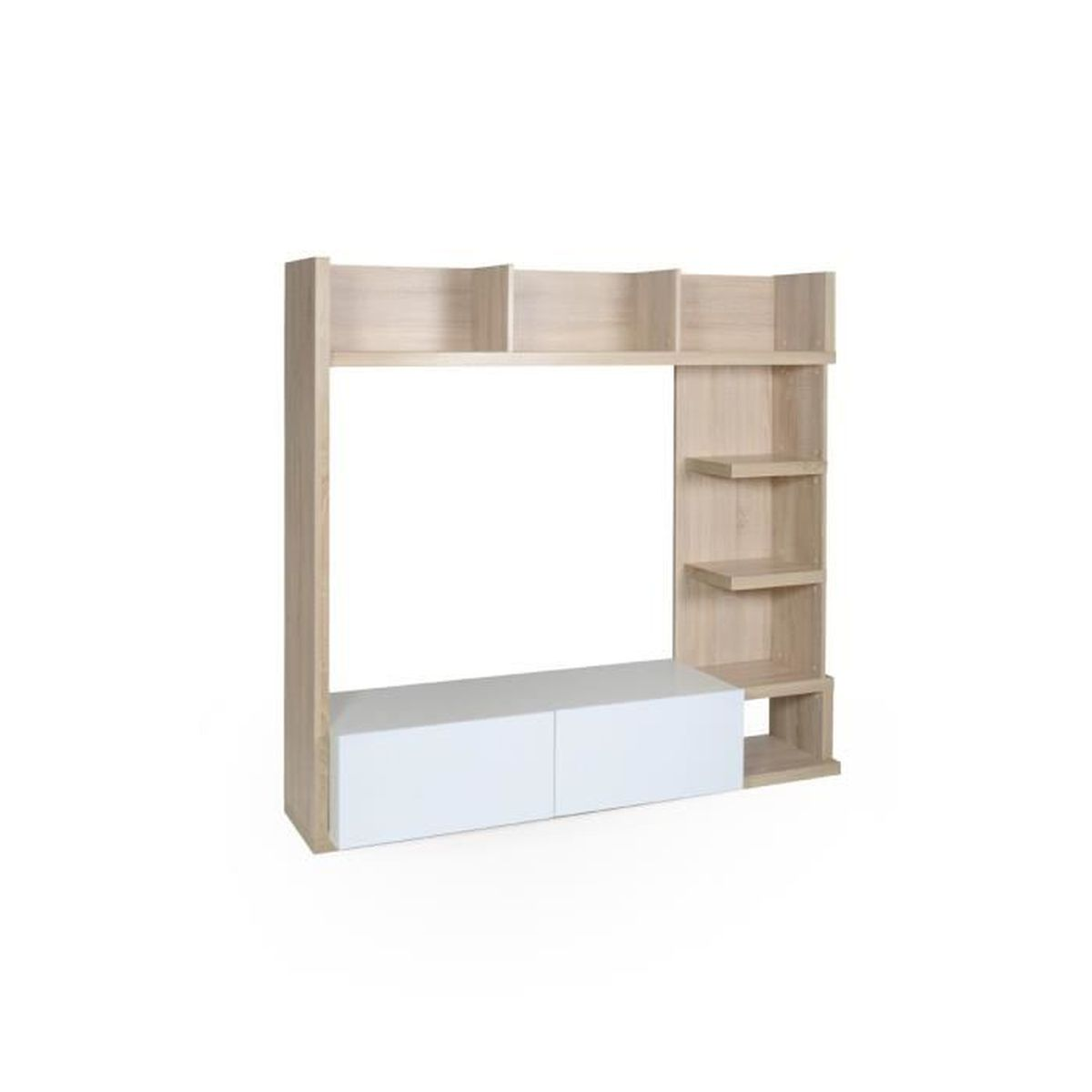 barcelona paroi tv beige achat vente meuble tv. Black Bedroom Furniture Sets. Home Design Ideas