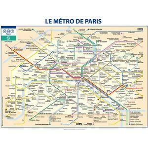 AFFICHE - POSTER Affiche papier -  Métro de Paris  - Ratp  -  60x80