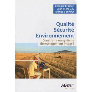 LIVRE GESTION Qualité Sécurité Environnement