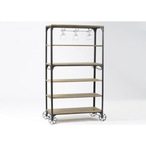 etagere metal roulette achat vente etagere metal roulette pas cher cdiscount. Black Bedroom Furniture Sets. Home Design Ideas