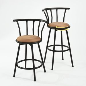 tabouret de bar marron achat vente tabouret de bar marron pas cher cdiscount. Black Bedroom Furniture Sets. Home Design Ideas