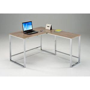 BUREAU  Bureau d'angle réversible 120 cm métal et bois - M