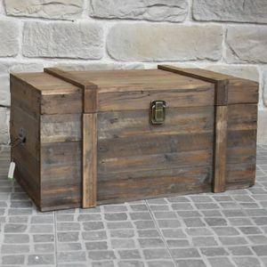 COFFRE - MALLE Grand Coffre de Rangement Bouteille Table Basse Bo