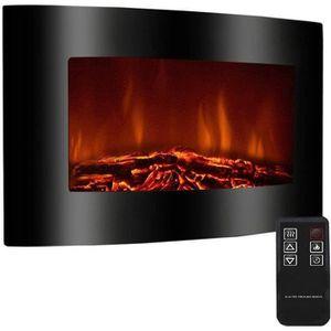 CHEMINÉE Cheminee electrique 2000W galbée noire thermostat