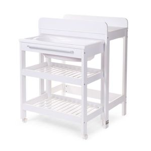 Table a langer baignoire integre table de lit a roulettes - Lit de bebe avec table a langer integree ...