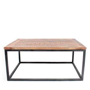 TABLE BASSE Table basse bois et métal Dunk - Dimensions - 100x