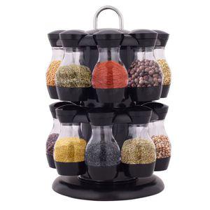 Pour 24 Jars Bouteilles Flacons Porte-/épices /étag/ère /à /épices Chrom/é De stockage Support Cuisine Organisateur M/étal Pisa/® Spice Rack
