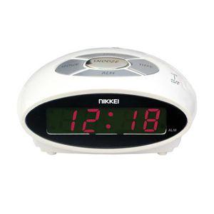 RÉVEIL SANS RADIO Réveil matin sur secteurNIKKEI - NR10 Blanc