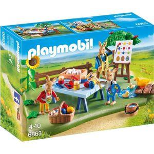 UNIVERS MINIATURE Playmobil 6863 - Jeu - Atelier Créatif Avec Lapins