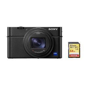 APPAREIL PHOTO RÉFLEX SONY RX100 VI Noir + carte SD de 64 Go