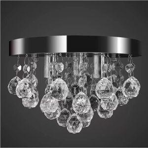 Saint Mossi Lustre en cristal circulaire moderne Lampe suspension r/églable Tania Trio Collection Pendentif contemporain en plafond 60 x 60 x 99 cm