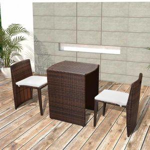 Salon de jardin en acier - Ensemble pour balcon 2 places ...
