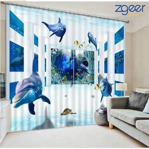 ATTACHE POUR RIDEAU Rideau 3D Nature Paysage Polyester Résistant 116*2
